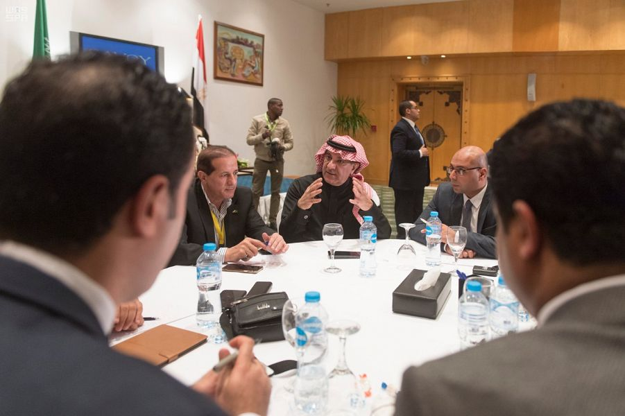 Media Minister Meets Egyptian Media Officials